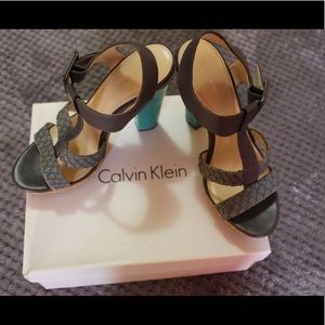 Calvin Klein Original height heels.
